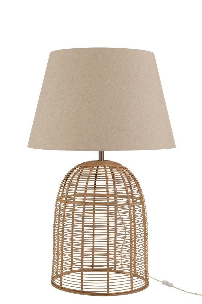 J-line Lampvoet+Kap Spijlen Bamboe Naturel Large-92270-5415203922700