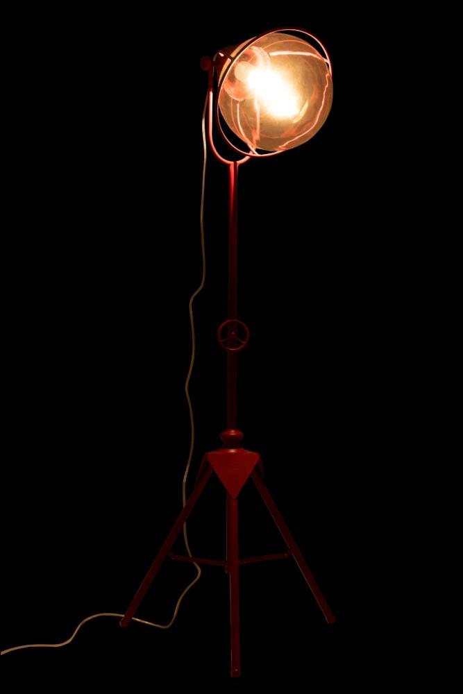 J-line Lamp Driepoot Metaal/Glas Rood