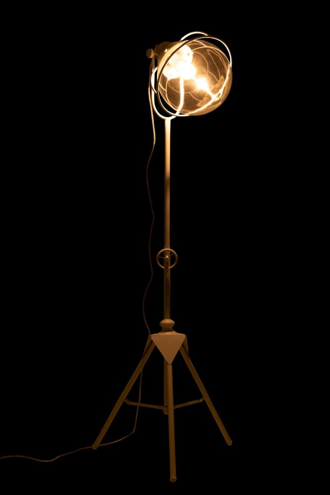J-line Lamp Driepoot Metaal/Glas Wit-92290-5415203922908