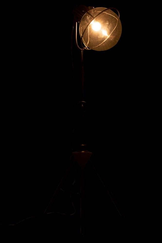 J-line Lamp Driepoot Metaal/Glas Zwart-92296-5415203922960
