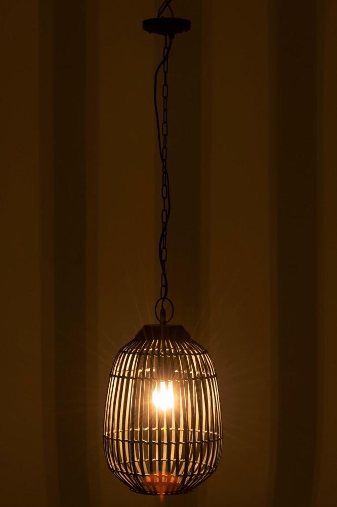 J-line Lamp Hang Spijlen Bamboe Kaki