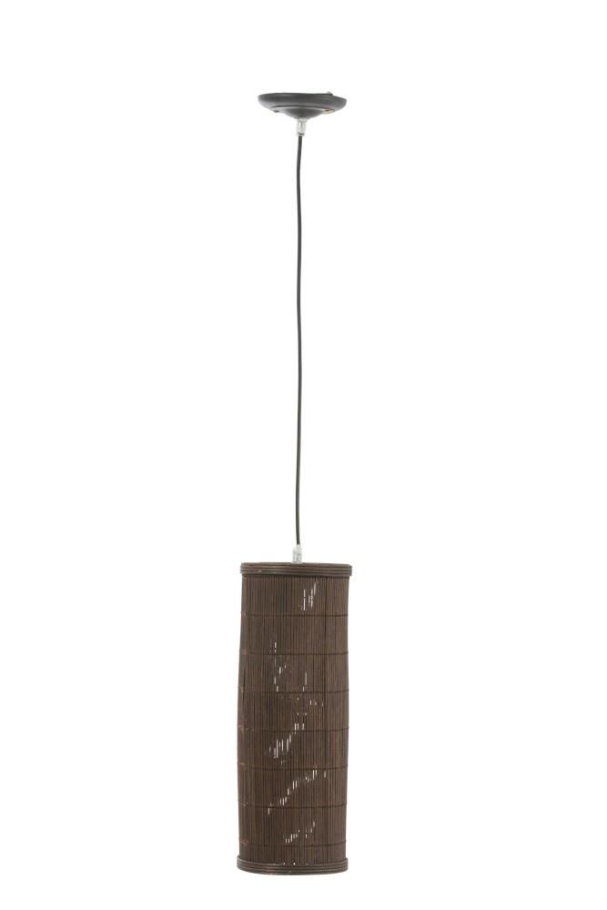 J-line Lamp Hang Cilinder Bamboe Bruin Small-92300-5415203923004