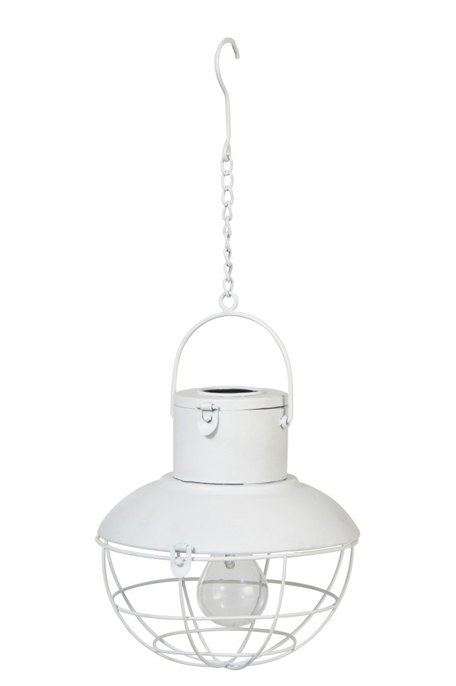 J-line Lamp Led Hang Zonnepaneel Metaal/Glas Wit