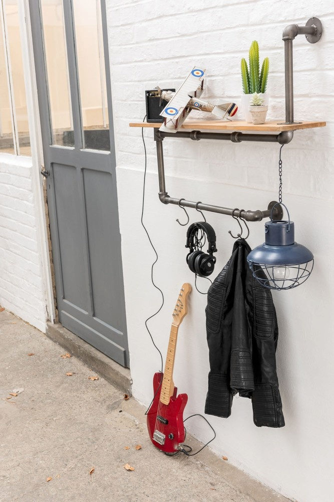 J-line Lamp Led Hang Zonnepaneel Metaal/Glas Blauw