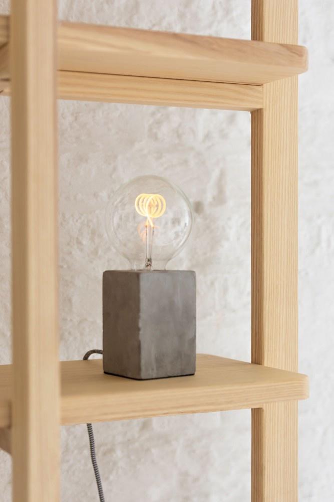 J-line Tafellamp Vierkant Cement Grijs-93764-5415203937643