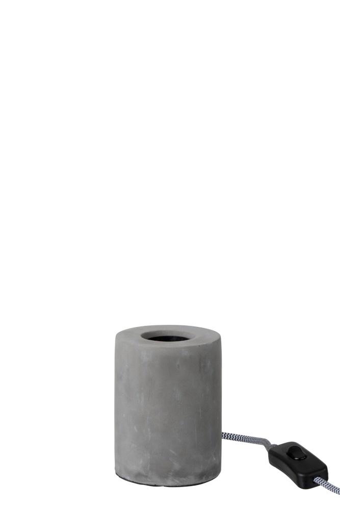 J-line Tafellamp Rond Cement Grijs