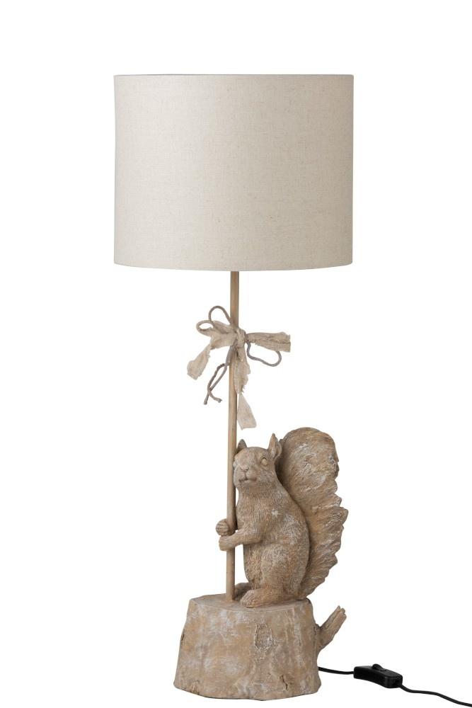 J-line Lamp Eekhoorn Poly Lichtbruin