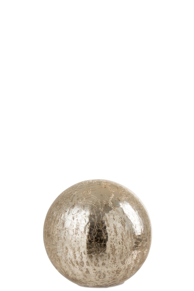 J-line Bal Led Glas Champagne Small-95571-5415203955715