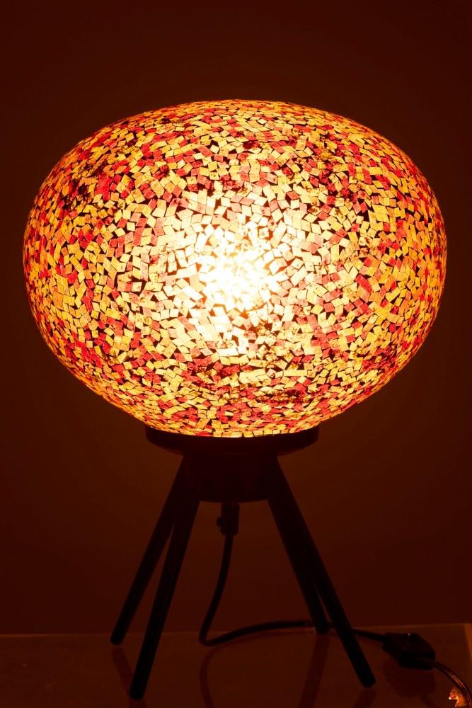 J-line Lamp Mozaiek Glas Rood/Geel-95588-5415203955883