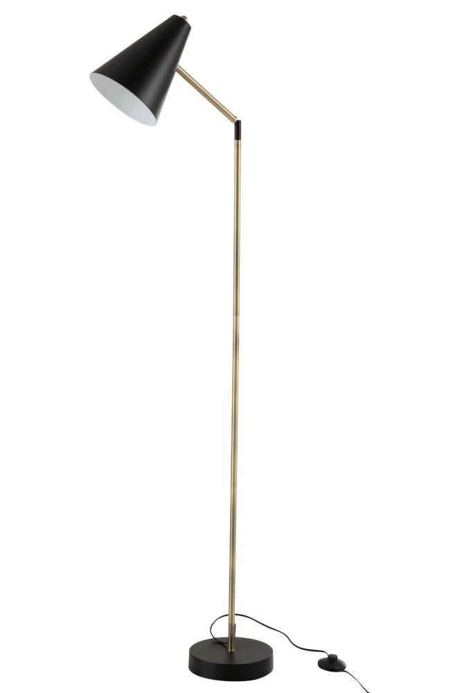 J-line Staanlamp Kegelvorm Metaal/Zwart