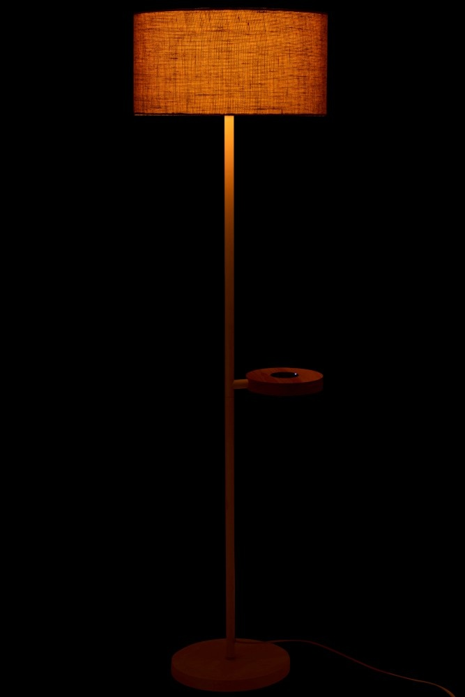 J-line Staanlamp Met Gsm Lader Metaal Wit