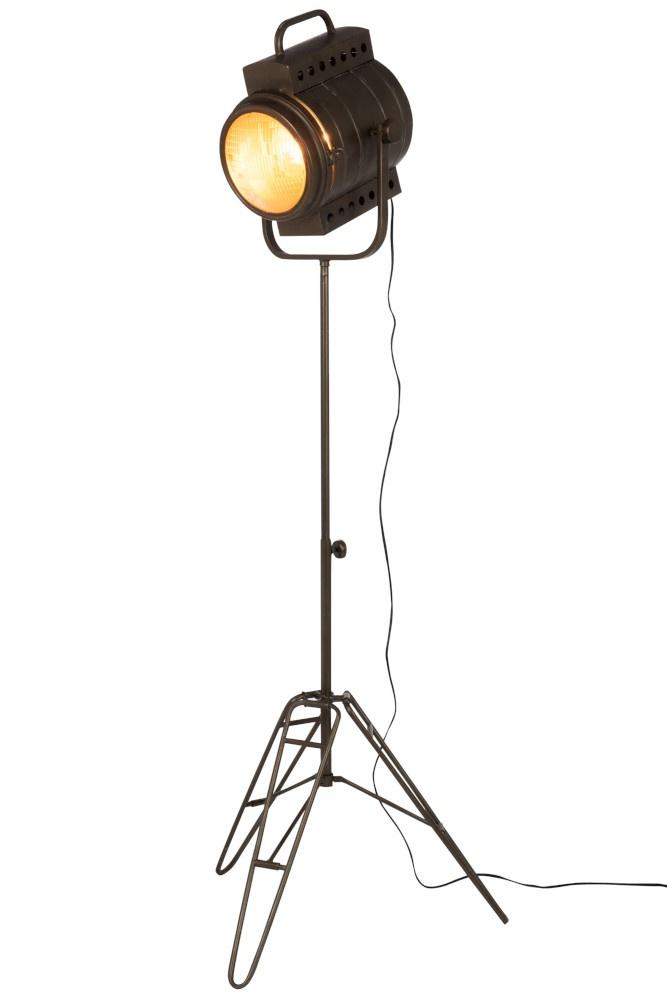 J-line Staanlamp Film Metaal/Glas Zwart-96061-5415203960610