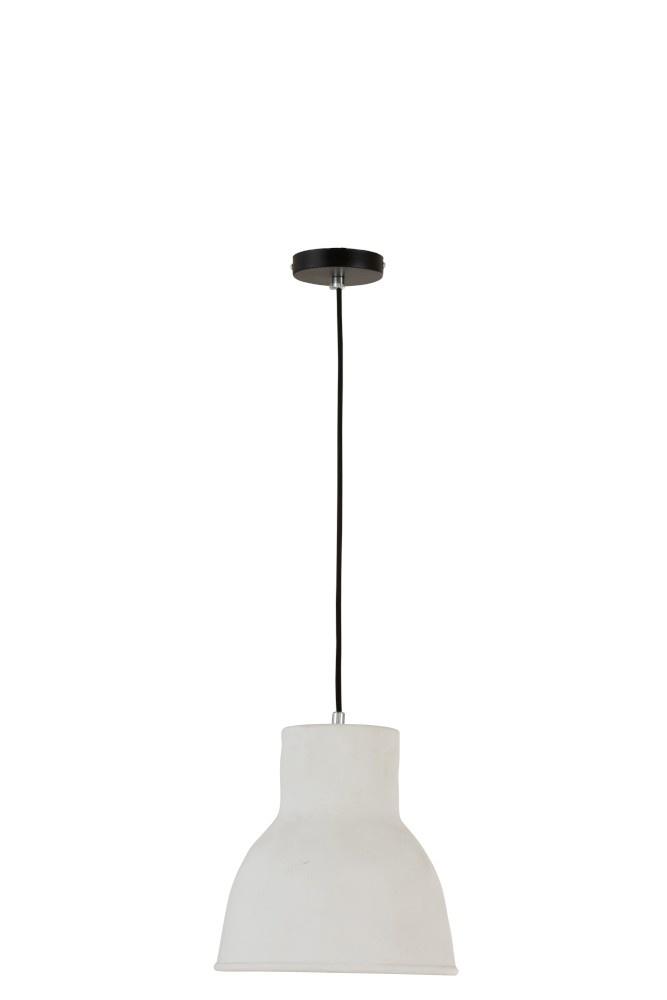 J-line Hanglamp Aardewerk Wit Small-96092-5415203960924