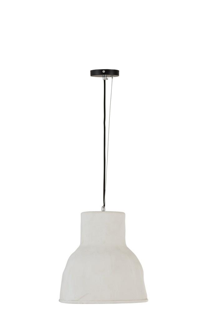 J-line Hanglamp Aardewerk Wit Large-96093-5415203960931