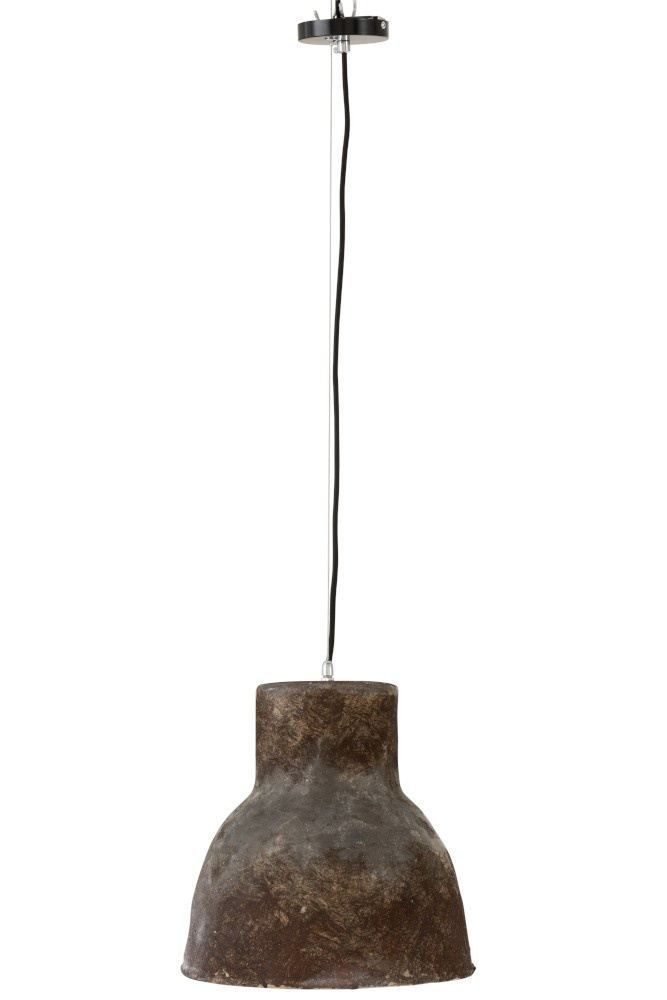 J-line Hanglamp Aardewerk Bruin Large-96095-5415203960955