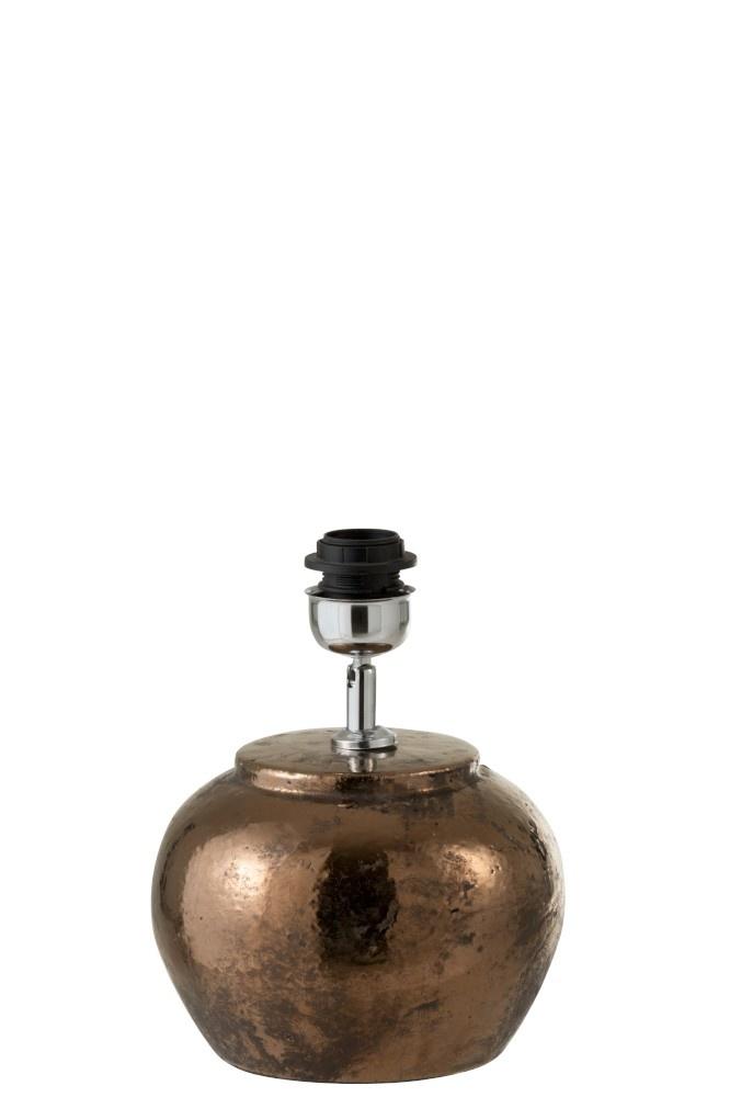 J-line Lampvoet+Kap Aardewerk Brons Small-96100-5415203961006