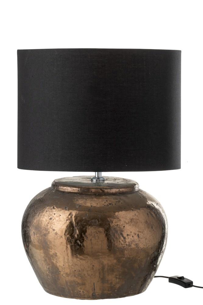 J-line Lampvoet+Kap Aardewerk Brons Large