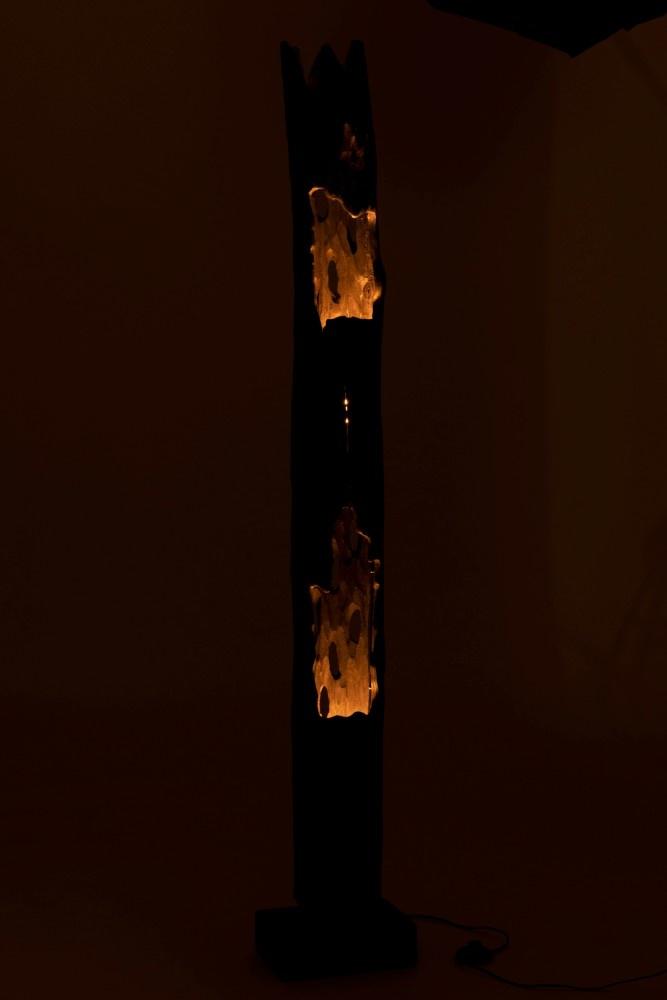 J-line Lamp Stam 2Opening Paulownia Hout Zwart