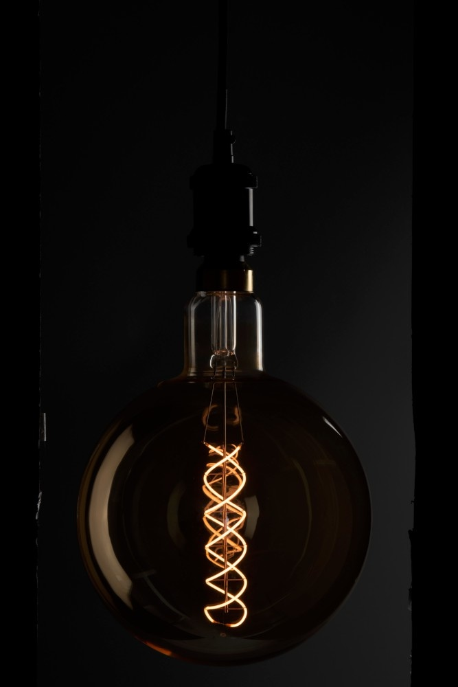 J-line Ledlamp Amber G200 Double Spiral E27-96305-5415203963055
