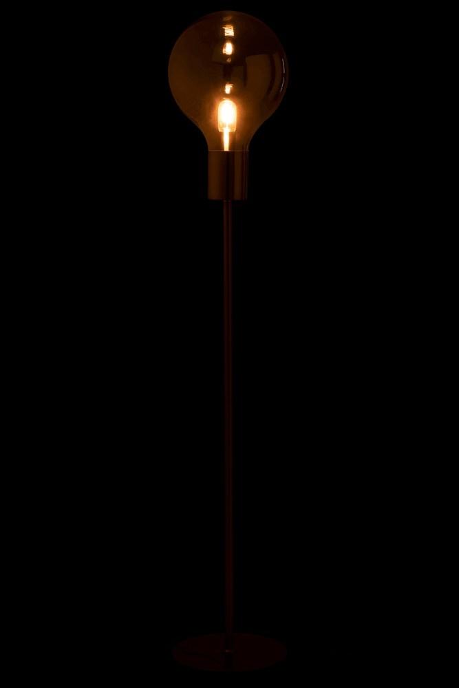 J-line Lamp Staand Ballon Glas/IJzer Grijs/Zilver