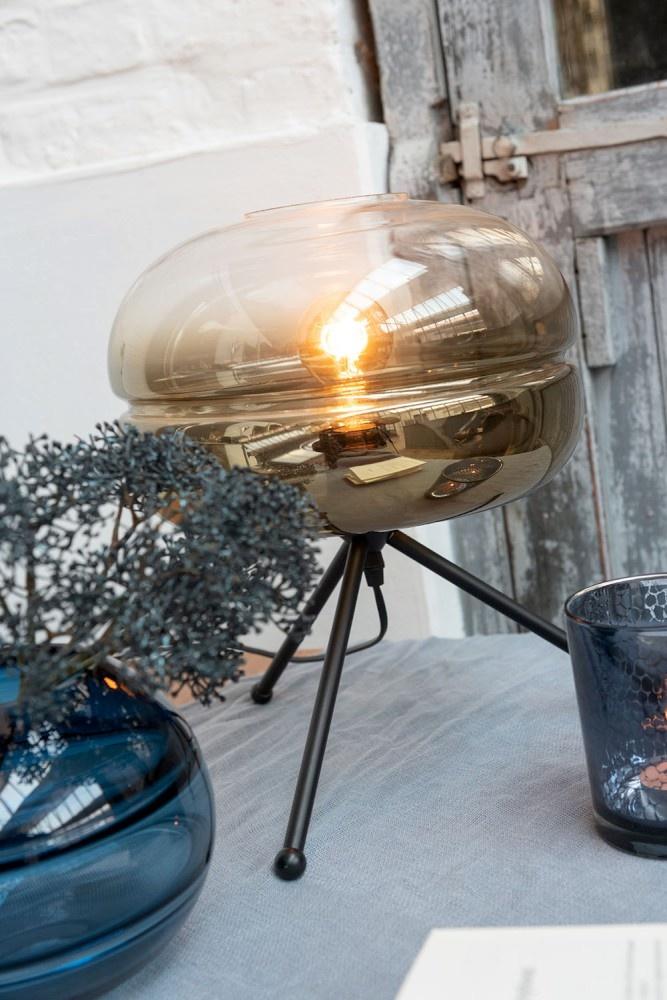 J-line Tafellamp driepoot rookglas-96334-5415203963345