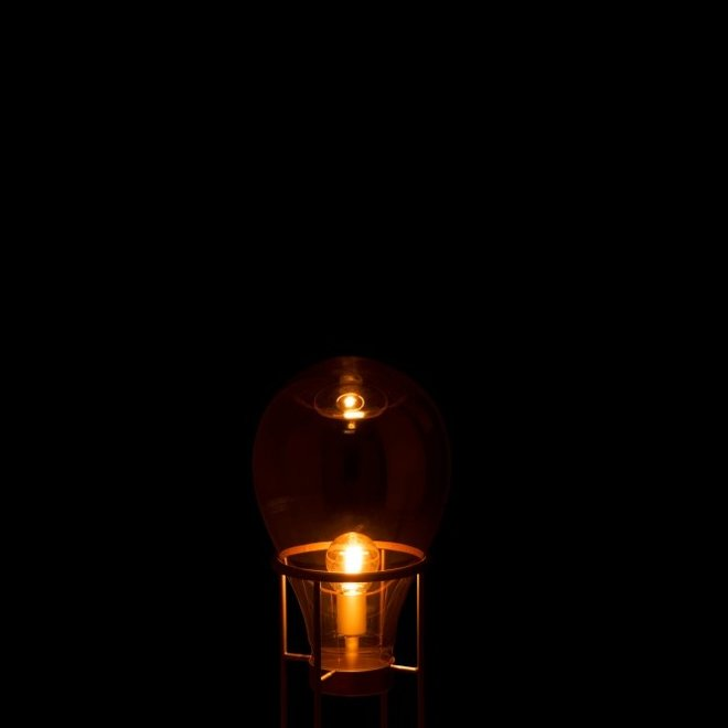 J Line Lamp Luchtballon Glas Metaal
