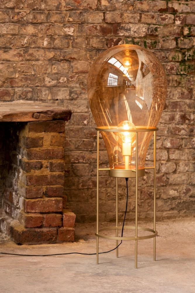 J-line Lamp Luchtballon Glas/Metaal Goud Medium