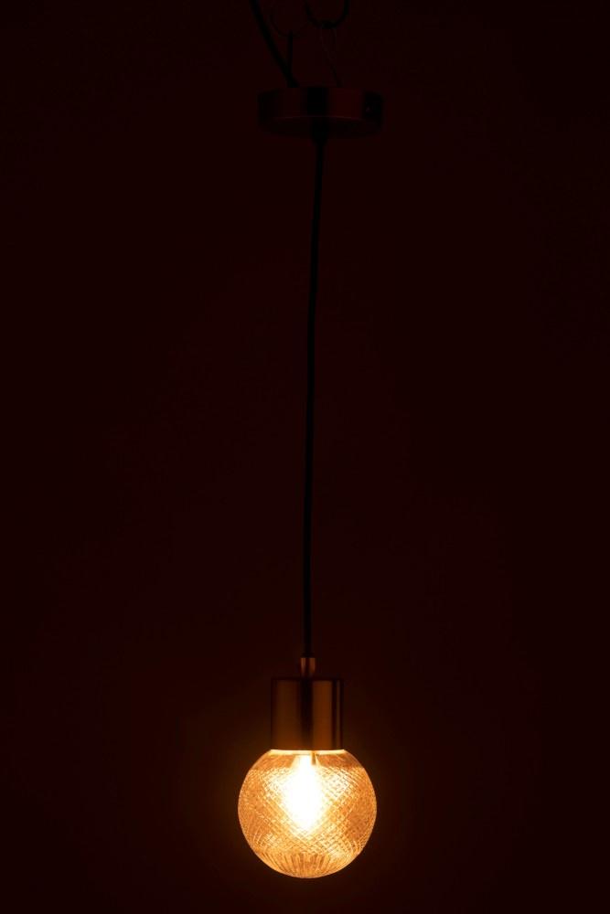 J-line Hanglamp Bol Glas Goud S-96345-5415203963451