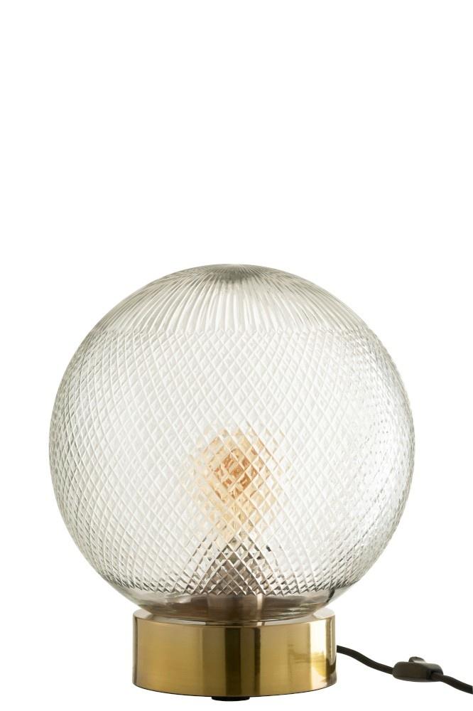 J-line Tafel Lamp Bol Glas Goud