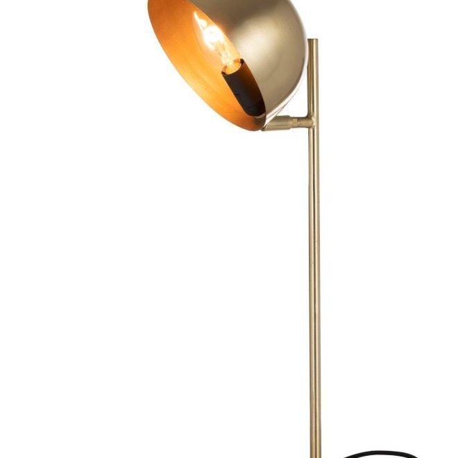 J-line Bureaulamp Luna Metaal Goud - 96356