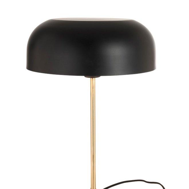 J-line Tafellamp Paddenstoel Metaal Marmer Goud Zwart - 96359
