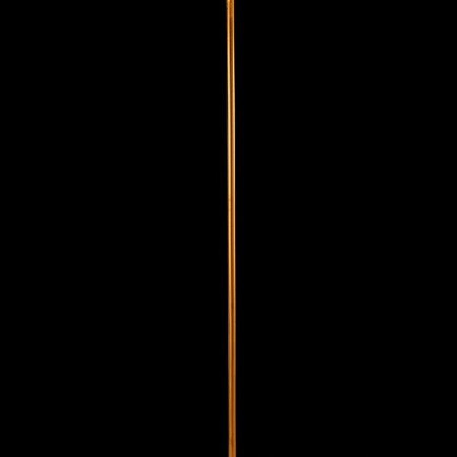 J-line Staanlamp Paddenstoel Metaal Marmer Goud Zwart - 96360