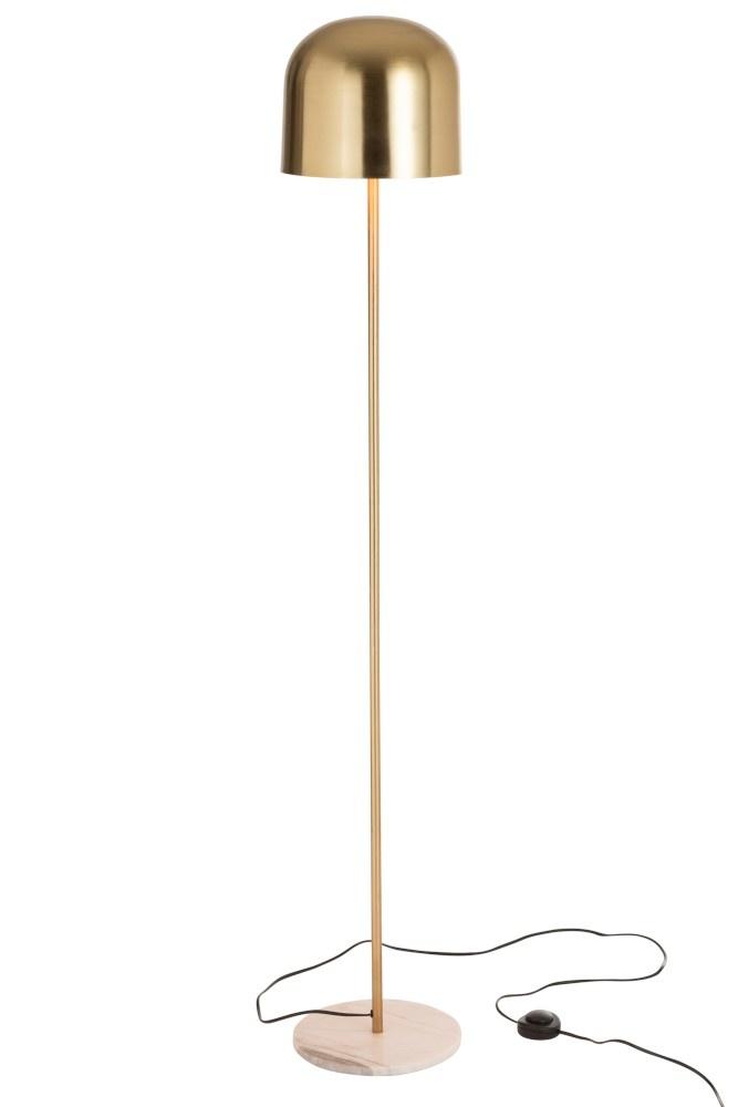 J-line Staanlamp Queen Metaal Marmer Goud-96362-5415203963628