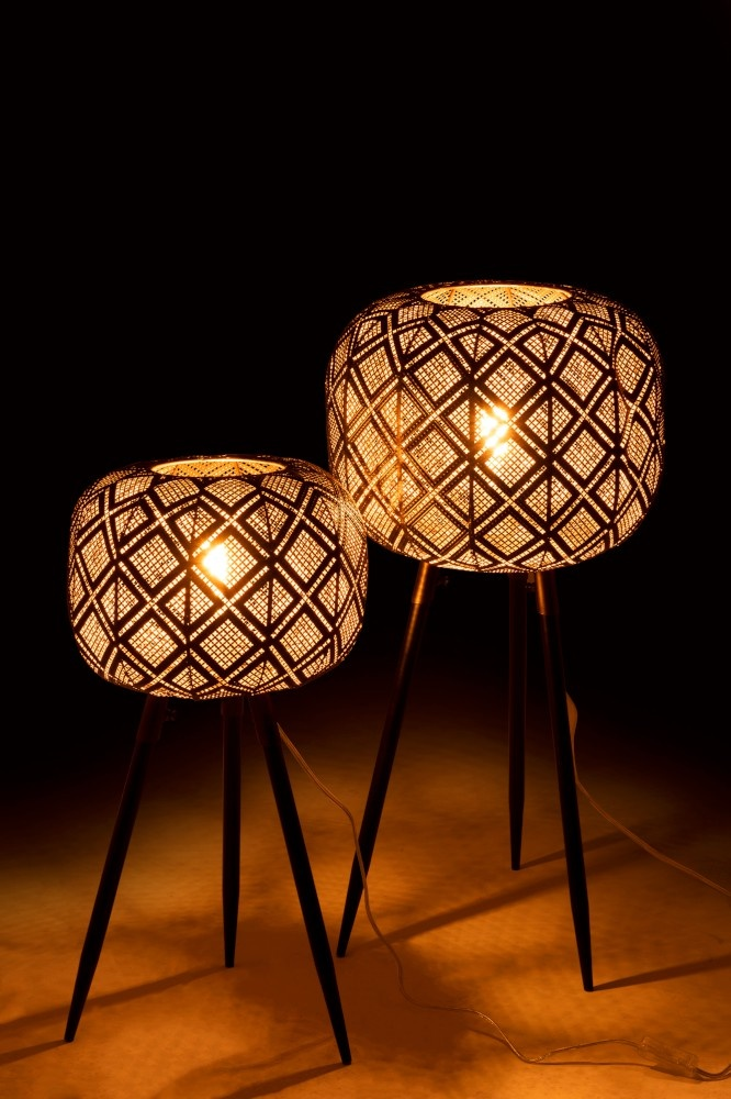 J-line Lamp Oosters Tripod IJzer Zwart Medium