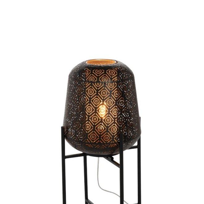 J-line Lamp Oosters Fijn Op Voet IJzer Zwart Small - 96369