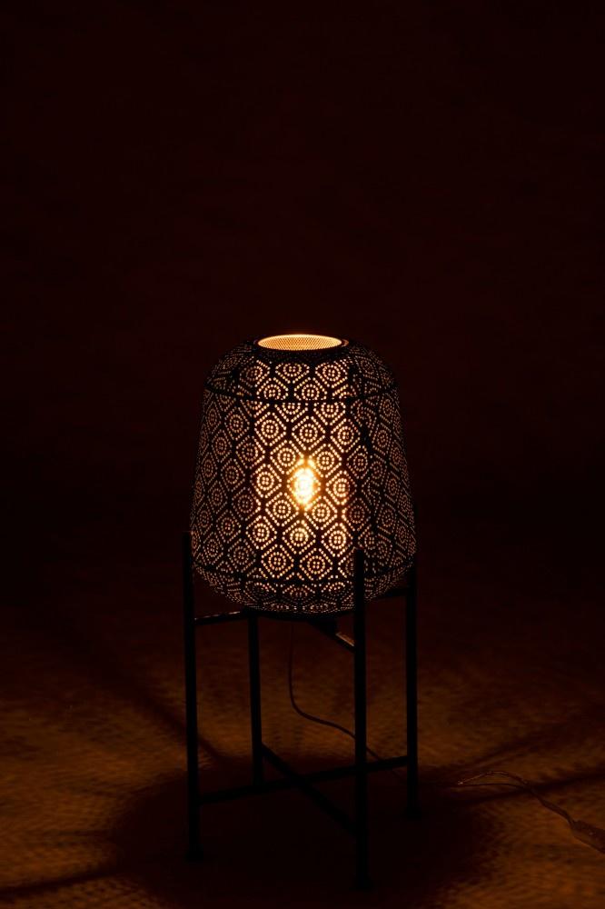 J-line Lamp Oosters Fijn Op Voet IJzer Zwart Small-96369-5415203963697