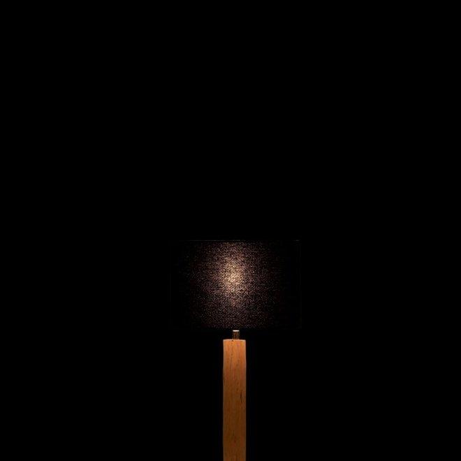J-line Tafellamp Tak Bruut Eucalyptus Hout/IJzer Naturel/Zwart - 96372