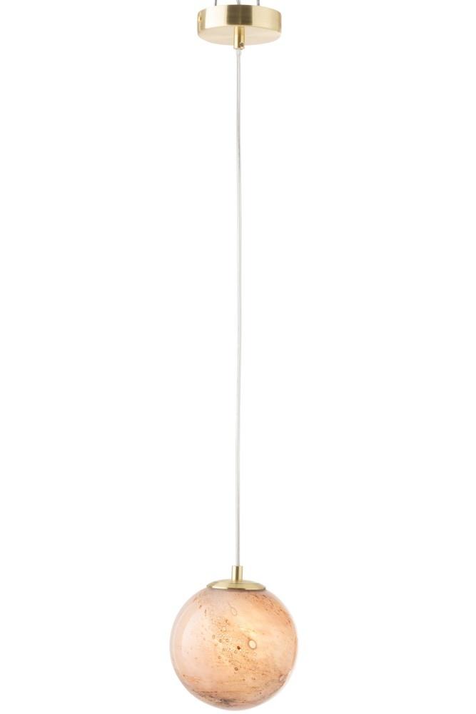 J-line Hanglamp Dany Rond Glas Rose