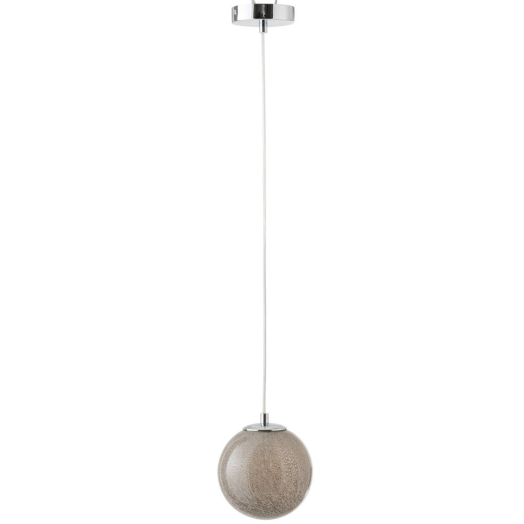 J-line Hanglamp Dany Rond Glas Licht Grijs - 96470