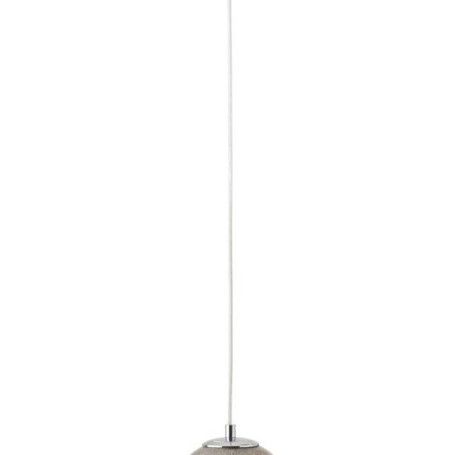 Hanglamp Dany Rond Glas Licht Grijs