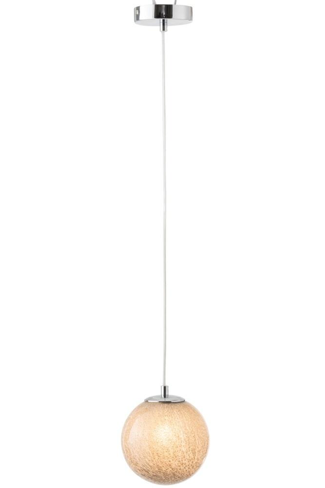 J-line Hanglamp Dany Rond Glas Licht Grijs-96470-5415203964700