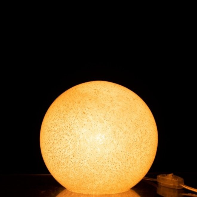 J-line Lamp Dany Rond Glas Licht Grijs S - 96471