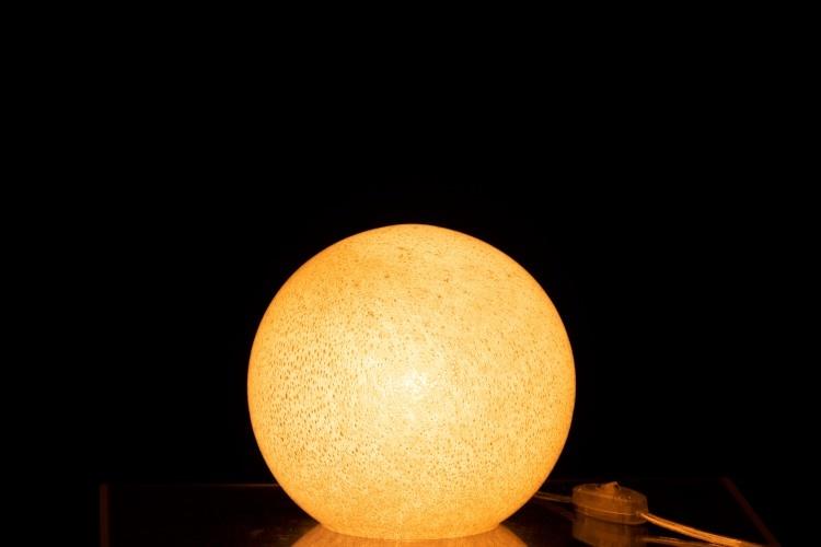 J-line Lamp Dany Rond Glas Licht Grijs S-96471-5415203964717