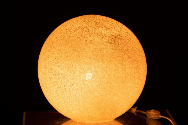 J-line Lamp Dany Rond Glas Licht Grijs L
