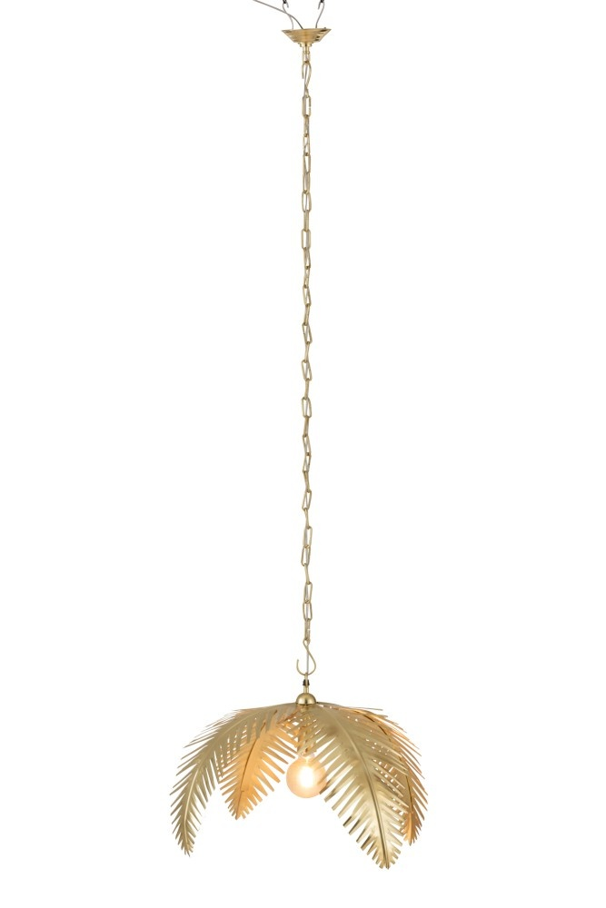 J-line Luster Kokosbladeren Staal Goud-96491-5415203964915