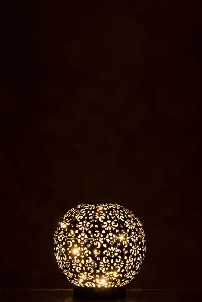 J-line Lamp Led Bal Oosters Batterij Metaal Zwart Small-96720-5415203967206