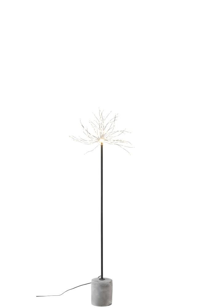 J-line Lamp Led+Stok Metaal Zwart Small