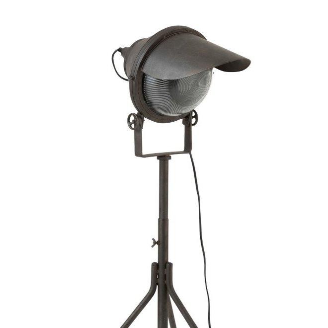 Lamp Koplamp Op Voet Metaal Zwart