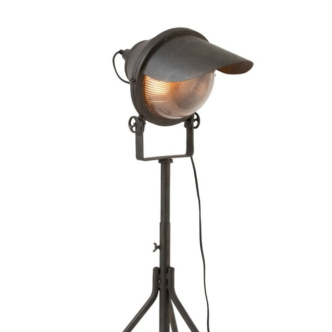 J-line Lamp Koplamp Op Voet Metaal Zwart - 97831