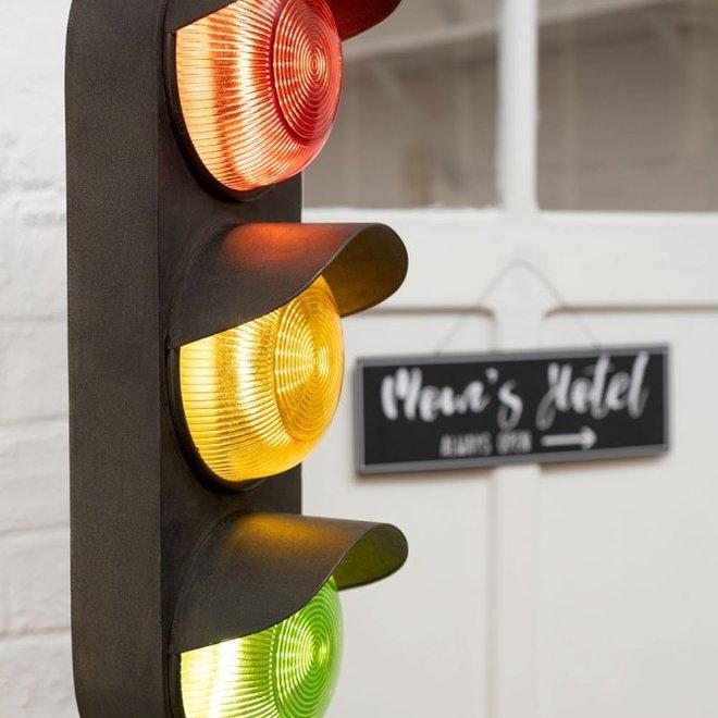 J-line Lamp Verkeer Op Voet Metaal Zwart - 97832